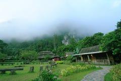 Sea Fog Village. At Khao-Sok National Park Thailand royalty free stock photography