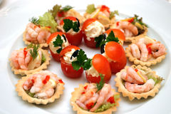 Sea food. On a plate Stock Photography