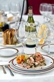Sea food. On a plate Stock Photos