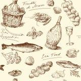 Sea food royalty free illustration