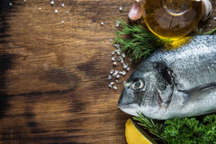 Sea food background, whole fish Stock Images