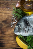 Sea food background, whole fish Royalty Free Stock Image