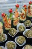 Sea food catering menu Stock Images
