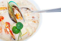 Sea food chowder Royalty Free Stock Image