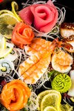 Sea food combination Royalty Free Stock Photos