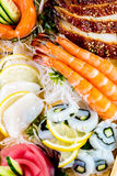 Sea food combination Royalty Free Stock Image