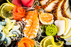 Sea food combination Royalty Free Stock Photography