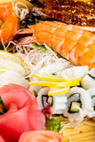 Sea food combination Stock Photo