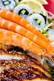 Sea food combination Royalty Free Stock Photo