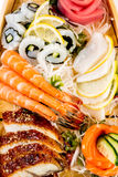 Sea food combination Stock Photography