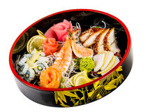 Sea food combination Stock Images