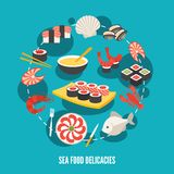 Sea food delicacies Royalty Free Stock Photo