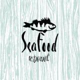 Sea Food design card Royalty Free Stock Image