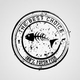 Sea food. Design over gray background vector illustration Stock Image