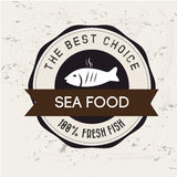 Sea food. Design over white background vector illustration Stock Photo
