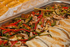 Sea food, fish and vegetables Royalty Free Stock Photos