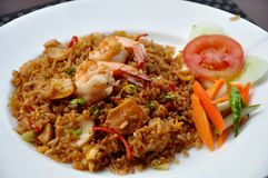 Sea food fried rice stock photo