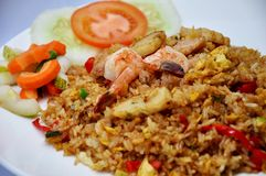 Sea food fried rice royalty free stock images