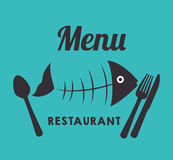 Sea food gastronomy. Graphic design,  illustration eps10 Royalty Free Stock Photography