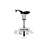 Sea Food Icon. Fresh fish menu label. Seafood banner. Stock Image