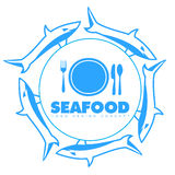 Sea food logo Stock Images
