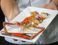 Sea food manu Stock Photos