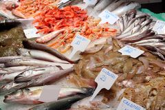 Sea food market Stock Photos