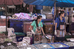 Sea food market in Bangkok Stock Photography