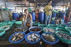 Sea food market in Ho Chi Minh Royalty Free Stock Image