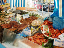 Sea food market Stock Images