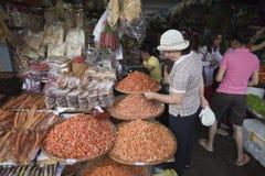 Sea food market in Phnom Penh  Stock Images