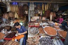 Sea food market in Phnom Penh  Stock Image