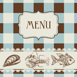 Sea food menu Stock Photo