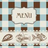 Sea food menu Stock Photo
