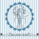 Sea food menu vector illustration