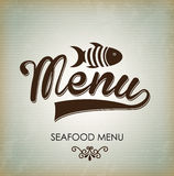 Sea food menu Royalty Free Stock Photo