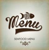 Sea food menu Royalty Free Stock Photo