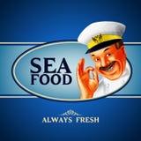 Sea food menu. Sea menu and banner for restaurant Stock Images
