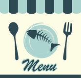 Sea food menu Stock Photos