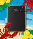 Sea food menu Stock Image