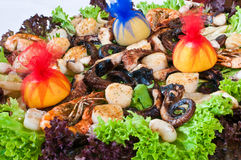 Sea-food mix Stock Photo