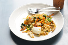 Sea food noodles Stock Photography