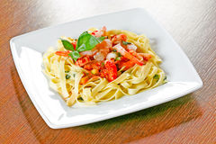 Sea food pasta Stock Images