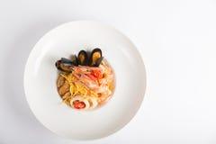 Sea food pasta Royalty Free Stock Photo