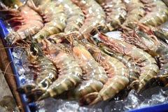 Sea food pattaya beach road thailand royalty free stock photography
