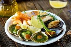 Sea food plate Stock Photos