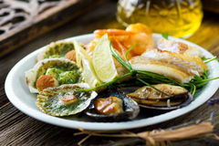 Sea food plate Royalty Free Stock Photography