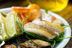 Sea food plate Stock Photography