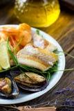 Sea food plate Stock Image