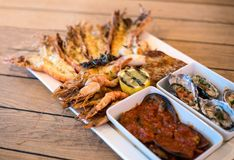 Sea Food Platter stock images